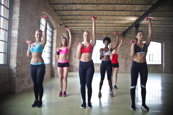 beginners exercising